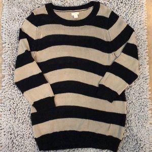 NWOT J. Crew knit striped sweater